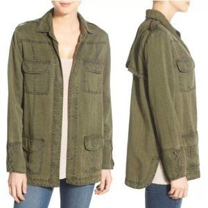 Willow & Clay Green Utility Military Shirt Jacket
